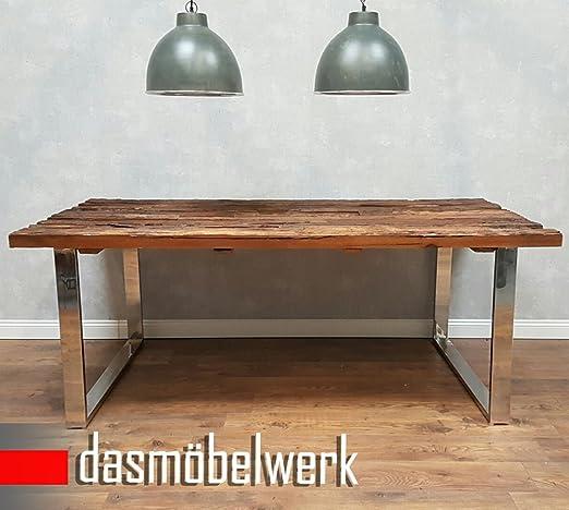 dasmöbelwerk Tisch Massiv Recycling Holz Antik Look Esstisch