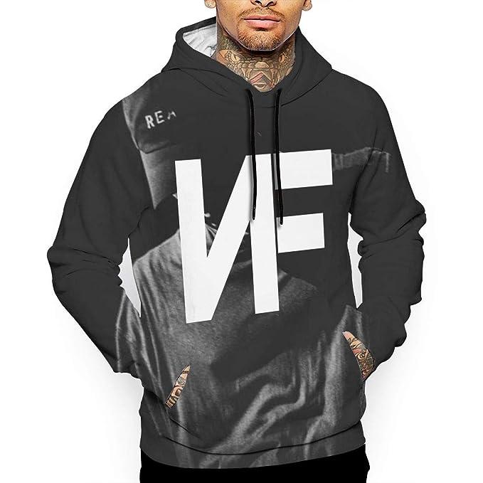Mens NF Rapper Logo Red Pullover Hoodie Long Sleeve Sweatshirt Hoodies for Men Boys Clothes Outdoor Coat Tops Black