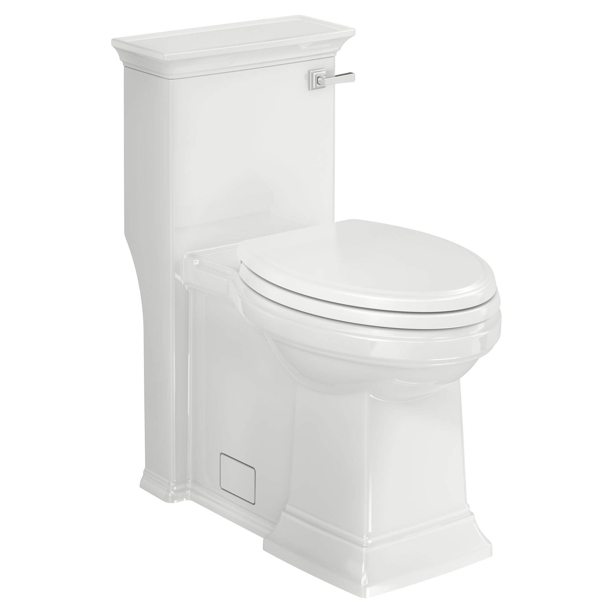 American Standard 2851A105.020 Town Square S Right Height Elongated One-Piece Toilet with Seat, White