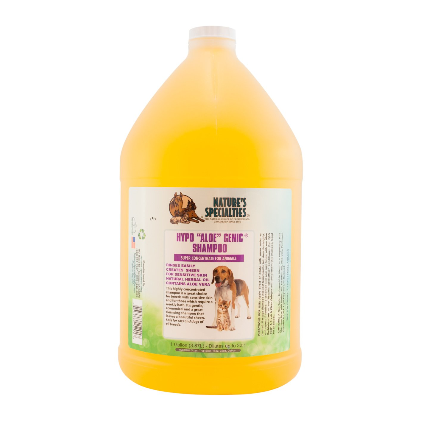 Nature's Specialties Hypo Aloe Genic Shampoo for Pets by Nature's Specialties Mfg