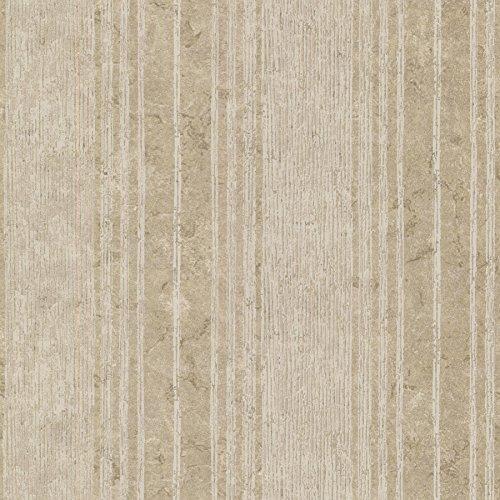 Kenneth James 672-20039 Conetta Multi Stripe Texture Wallpaper, Bronze