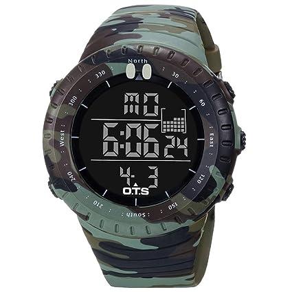 LINAN Reloj Deportivo Digital Deportivo para Hombre Reloj retroiluminado a Prueba de Agua para Hombres (