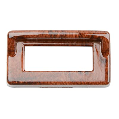 Grand General Wood Color Switch Bezel Cover with Visor for Kenworth: Automotive