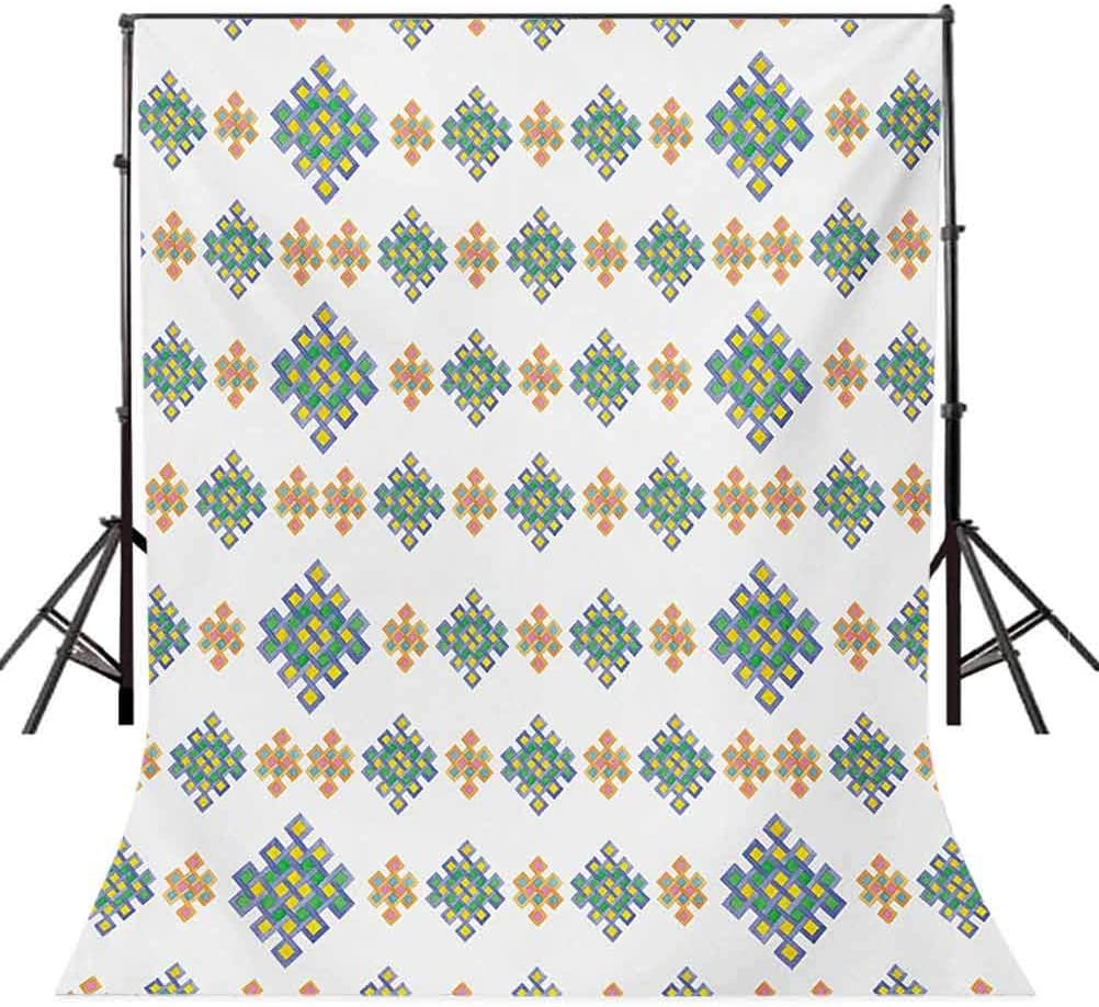 6.5x10 FT Backdrop Photographers,Pastel Colored Unique Geometric Hexagon Celtic Motifs on White Background Irish Art Background for Child Baby Shower Photo Vinyl Studio Prop Photobooth Photoshoot