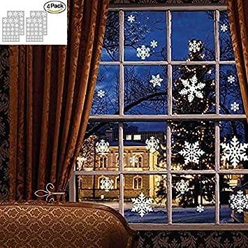 Amazon.com: Pegatinas de pared de Navidad, copos de nieve ...