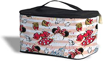 Minnie Best Day Ever Disney Inspired Cosmetics Storage Case - Makeup Zipped Travel Bag