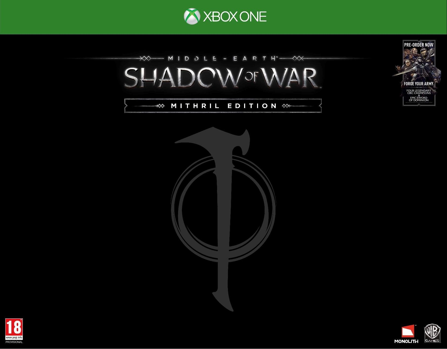 Middle-earth: Shadow of War Mithril Edition (Exclusive to Amazon.co.uk) (Xbox One)