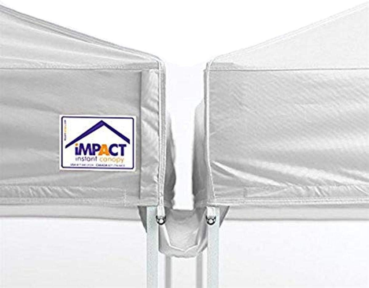 Impact Canopy 20-Foot Canopy Tent Rain Gutter, White