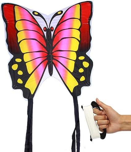 Ypkhhh Brise Des Enfants De Dessin Anime Creatif Facile A Voler Papillon Rouge De Remise En Forme En Plein Air Avec Ligne Ligne Roue 100 Amazon Fr Cuisine Maison