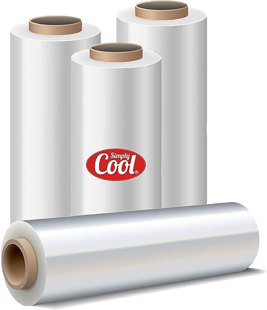 6 X ROLLS CLEAR PALLET STRETCH SHRINK WRAP CAST 400 mm 350 m 22 Micron Ext Core