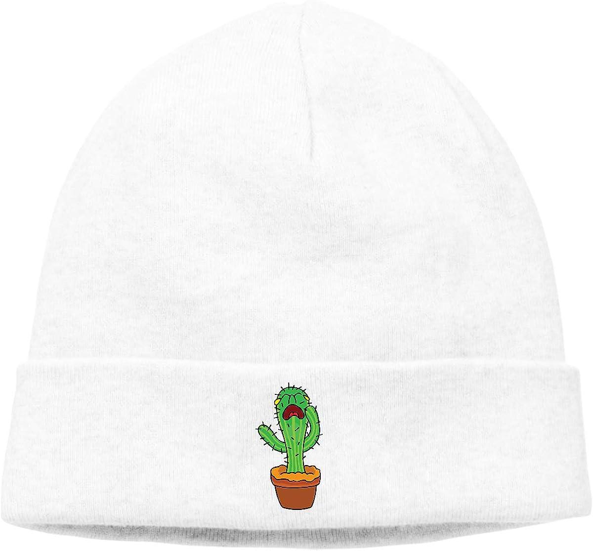 BBlooobow Men Women Cactus Drawing Soft Skull Cap