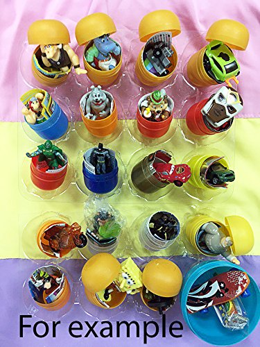 20psc for Boys Only toys from cartoon!No puzzles jewelry,no other obscure toys!From Eggs in Shells Kinder surprise AND OTHER EGGS toys in capsules only, chocolate not included. Party Favor easter