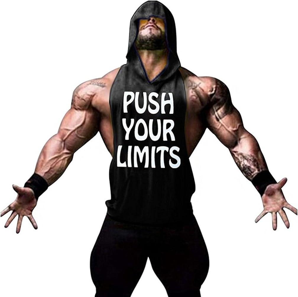 Befox Camisetas Sin Manga Tirantes de Algodón Deportivo Gimnasio Fitness Running Tops Camisetas T-Shirts Chaleco Suelto para Hombre Muestra su Músculo