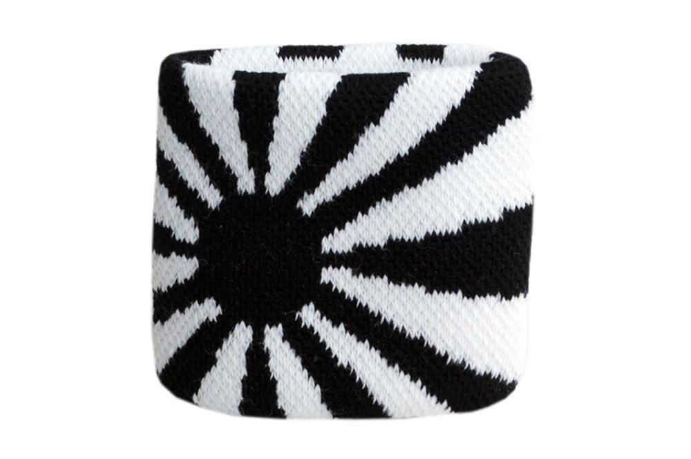 Schweißband Motiv Fahne / Flagge Schwarz-Weiß + gratis Aufkleber, Flaggenfritze® Flaggenfritze®