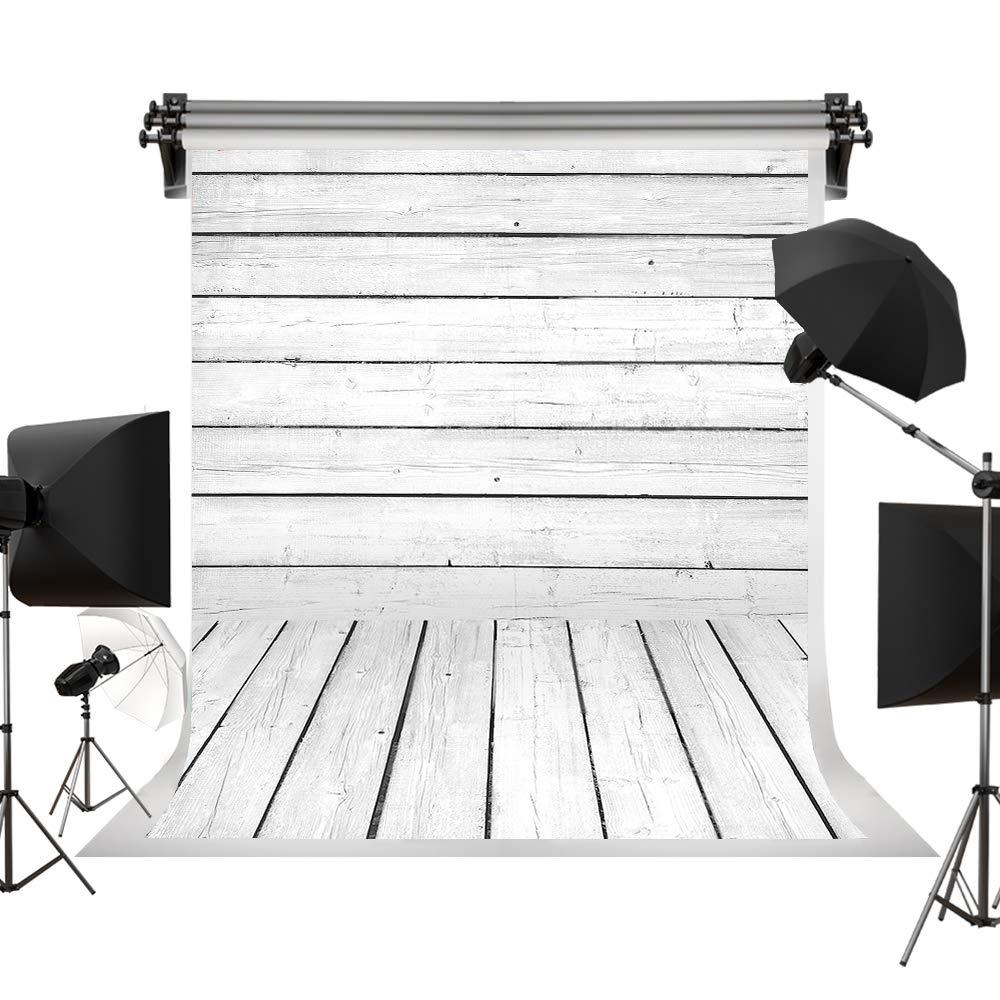Kate 10x10ft/3x3m 撮影用背景布 白い木製の床 写真スタジオ 写真撮影用の背景幕 装飾用 無反射布 綿 背景紙 ファンション撮影 自宅用 商業用 雑誌 カスタマイズ可能様々な背景 3x3m 2 B071G7BDMS