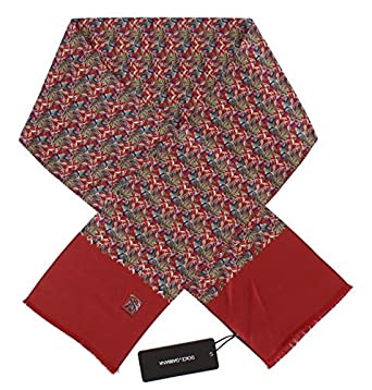 d0039cce Dolce & Gabbana Red Silk Aubergine Print Scarf: Amazon.co.uk: Clothing