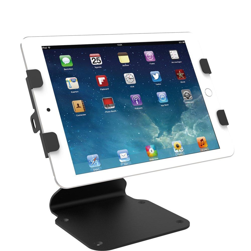 Kiosk iPad Stand Swivel For iPad Mini, iPad Air, iPad Pro 9.7/12.9/10.5, iPad 5th/ 6th, Tablets (6.69-10 inch), Key lock Security, Black, BSC401B - Beelta