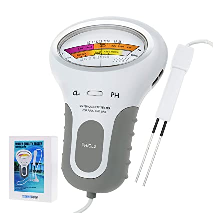 Schwimmbad Spa PH CL2 Chlor Level Meter Wasserqualität Tester Monitor DE