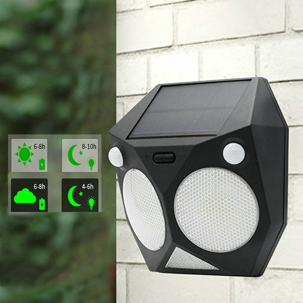 Solar Lights Outdoor,Deck lights,7 Colors Changing Waterproof LED Wall Light with Dual Motion Sensor 180/° Wide Angle 5 Modes Security Night Lamp for Driveway Front Door Garden Patio Deck Yard Lighting ArHehuang