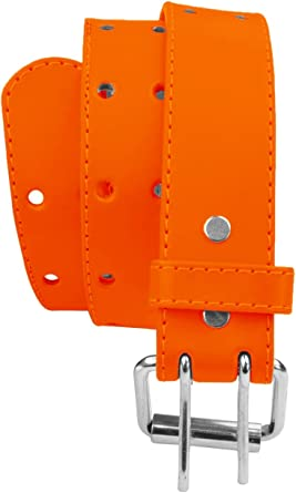 Kids 2 Holes Belt Double Prong Buckle PU Leather Glittery