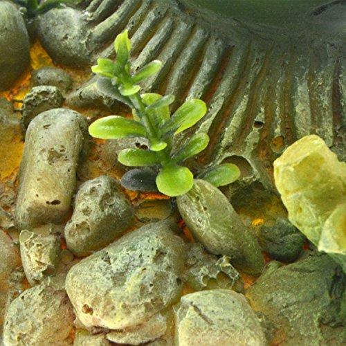Saim Aquarium Artificial Bamboo Plants Decor Plastic Plant Betta Hideout for Aquarium Fish Tank Bonsai Ornament Green, Large,1Pcs