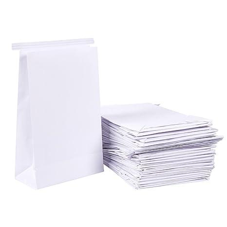 50 bolsas de vomitar – blanco emesis Barf bolsas para enfermedad de movimiento y por la mañana enfermedad, bolsa de papel carcasa, 6 x 2,6 x 9,7 ...