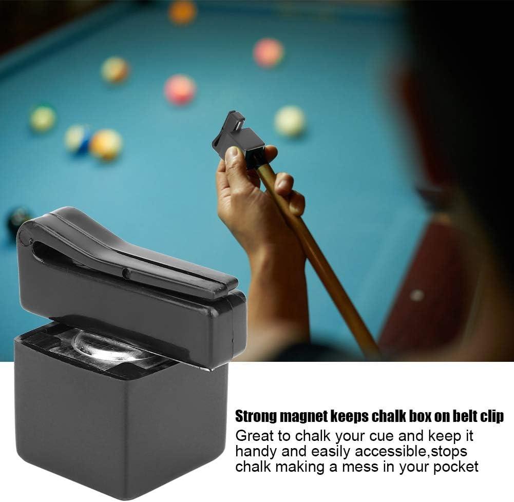 MAGT Titular de Tiza Pool Cue, imán portátil Billar magnético Bolsillo en el Clip de cinturón Titular de Tiza Prevenga el Caos caótico Chalk Cue para el Juego de Billar, Utensilios para