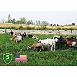 """Powerfields P-89-G Electric 40"""" Poultry / Goat Fence-Netting, 40-Inches Tall x 165-Feet Long Netting, 15 Line Post, 19 Stakes, 2 Tie Down Cords, Repair Kit, Black/White Netting"""