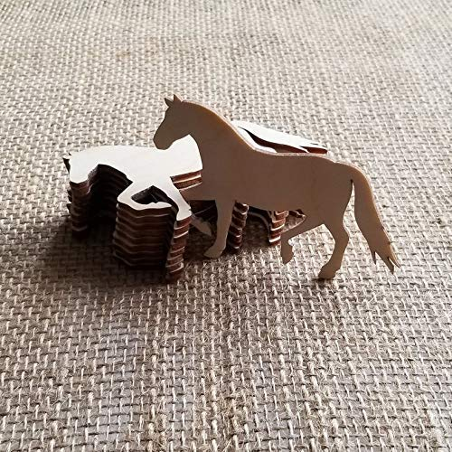Wood Horse Shapes - Wooden Horse Cutout - Woodland Decor - Horse Decoration - Wood Horse Art - Horse for Crafts - Pack of 10 from SuppliesCa
