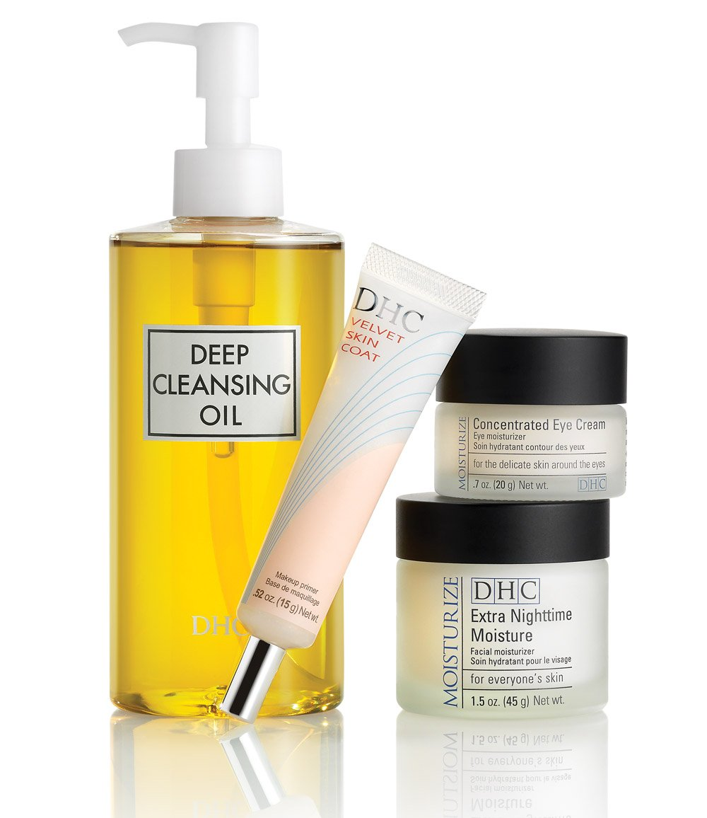 DHC Best Selling Beauty Essentials Set, 4-Piece Skin Care Set
