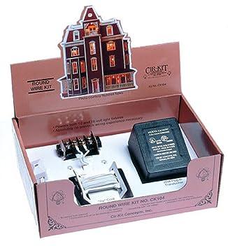 Fine Amazon Com Dollhouse Cir Kit Round Wire Kit Up To 33 Bulbs Toys Wiring Database Rimengelartorg
