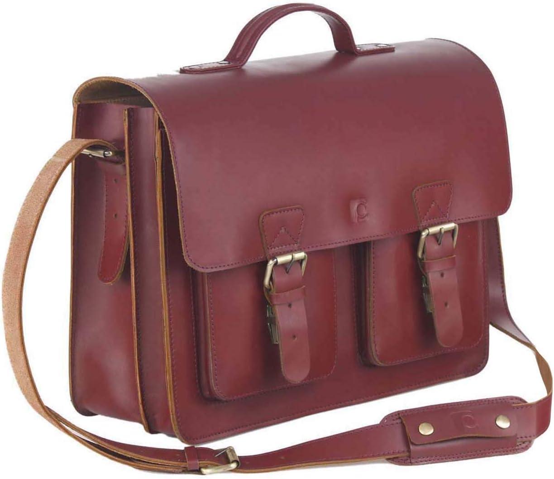 Schoolmaster Classic In Bordeaux Stilvolle Lehrertasche amp Aktentasche Aus Echtem Leder Viele ...