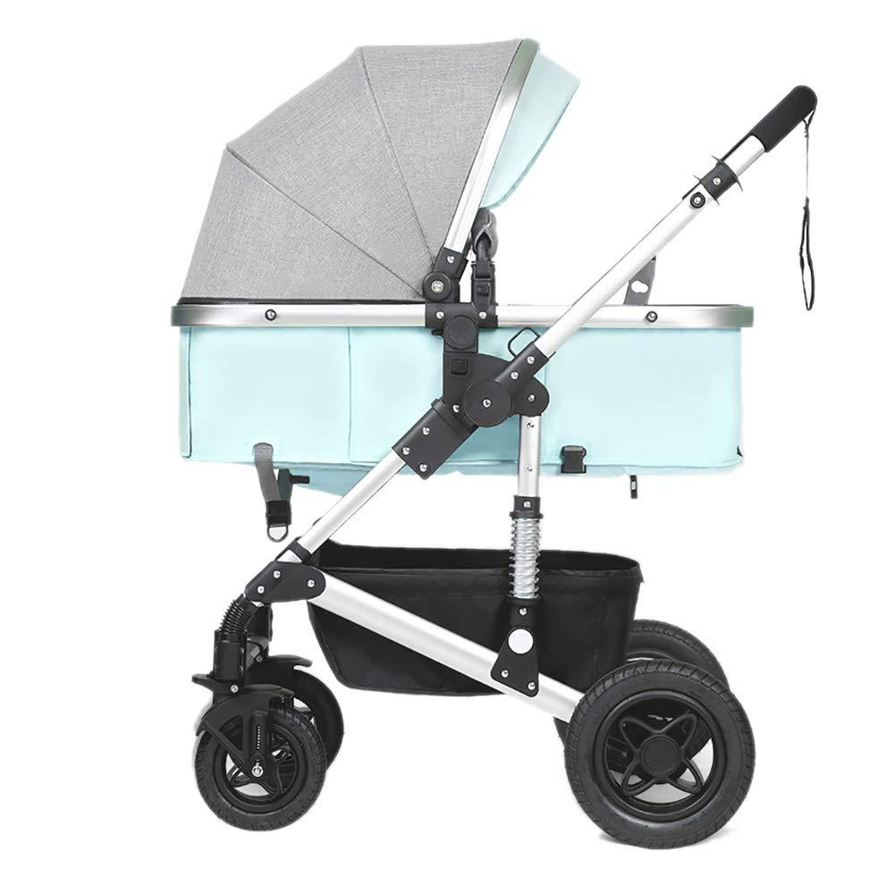 赤ちゃんのベビーカー、折りたたみ軽量ショックアブソーバの子供は赤ちゃんのキャリッジを幼児トロリーのアルミ合金フレームをプッシュ (色 : 青)  青 B07QHTC1CF
