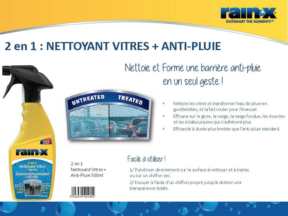 Carpoint RainX 2en1 - Limpiacristales + Anti-Lluvia 500 ml: Amazon.es: Coche y moto
