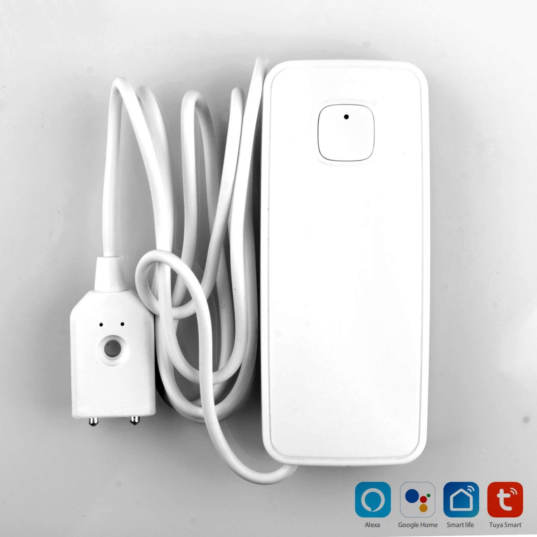 SODIAL Wifi Capteur DEau D/étecteur De Fuite DEau Alarme De Capteur De Fuite DEau Niveau Smart House Compatible avec Alexa Home Ifttt