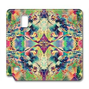 Abstract Multicolor Psychedelic Trippy Russians Samsung Galaxy Note 4 Flip Leather Cover Case by Lilyshouse by runtopwell