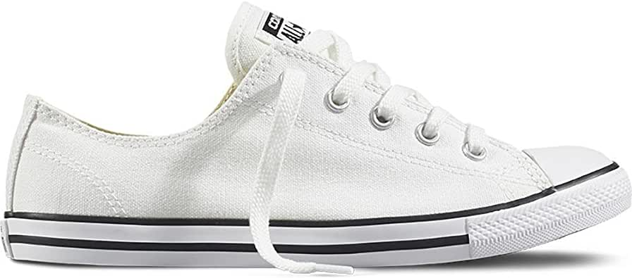 Converse Unisex-Adult Mens Chuck Taylor All Star Dainty Chuck Taylor All Star Dainty Ox Multi Size: 5.5 White/Black