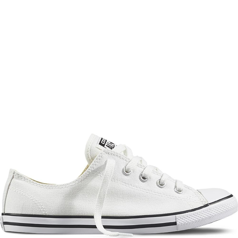 White (Black) Converse Women's Dainty Canvas Low Top