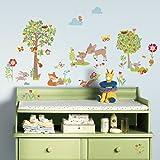 RoomMates RMK3209SCS RM - Waldtiere und Freunde Wandtattoo, PVC, Bunt, 29 x 13 x 2.5 cm