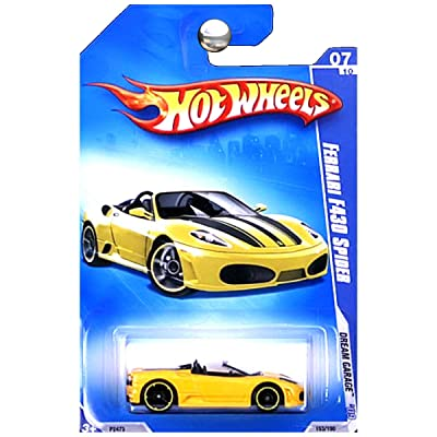 Hot Wheels 2009 Ferrari F430 Spider (yellow) Dream Garage 153/190, 1:64 Scale.: Toys & Games