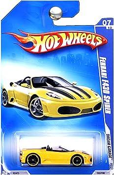 Hot Wheels 2009 Ferrari F430 Spider Yellow Dream Garage 153 190 1 64 Scale Amazon De Spielzeug