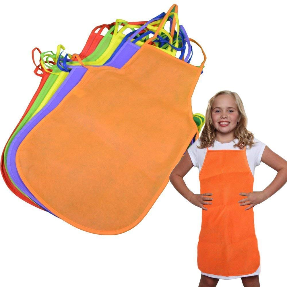 Toy Cubby Colorful Artist Painting Aprons for Kids 6 Pieces