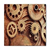 Search : Industrial Bandana by Ambesonne, Inside The Clocks Theme Gears Mechanical Copper Device in Steampunk Style Print, Printed Unisex Bandana Head and Neck Tie Scarf Headband, 22 X 22 Inches, Cinnamon