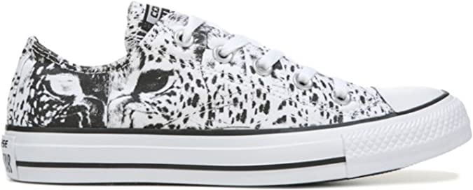 Miau miau pegar Latón  Amazon.com | Converse Womens Chuck Taylor All Star Animal Print Ox  White/Black/White 5 M | Fashion Sneakers