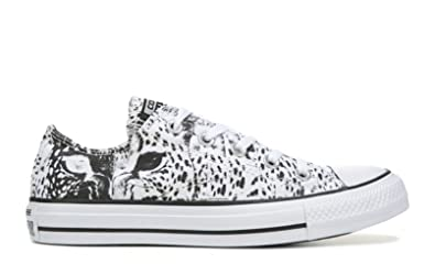 0972fad77c Converse Womens Chuck Taylor All Star Animal Print Ox White/Black/White 5 M