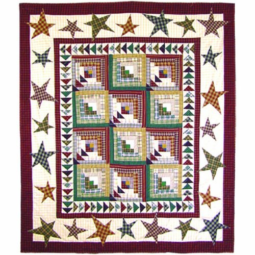 Patch Magic 50-Inch by 60-Inch Woodland Star and Geese Throw ()