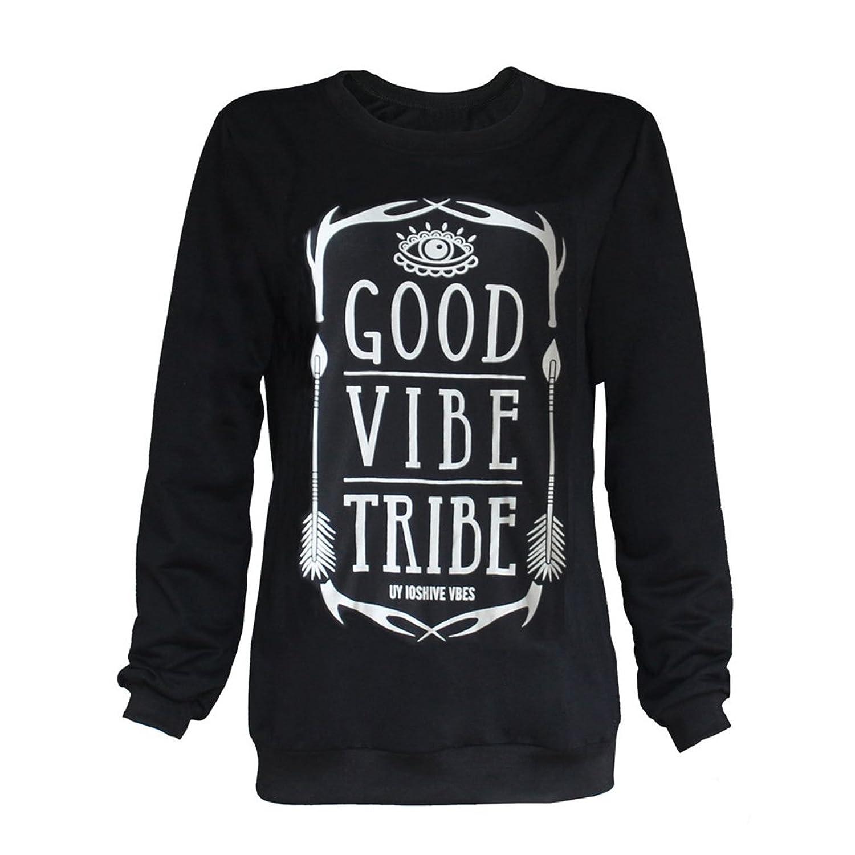 HN Printing Long Sleeve Women Hoodies Sweatshirts Pullover Tops