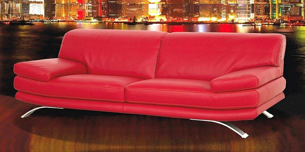 Calia Maddalena–Sofa Modell Bolero, Stoff Mikrofaser Divano 2 posti 2 sedute da 62cm Tessuto Microfibra Rosso