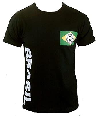 Ticila Herren T-Shirt Schwarz Black Brasil Football do Samba Brazil  Brasilien Fussball WM Designer