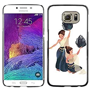 Colorful Printed Hard Protective Back Case Cover Shell Skin for Samsung Galaxy S6 / SM-G920 / SM-G920A / SM-G920T / SM-G920F / SM-G920I ( Dance National Native Women Painting Art )
